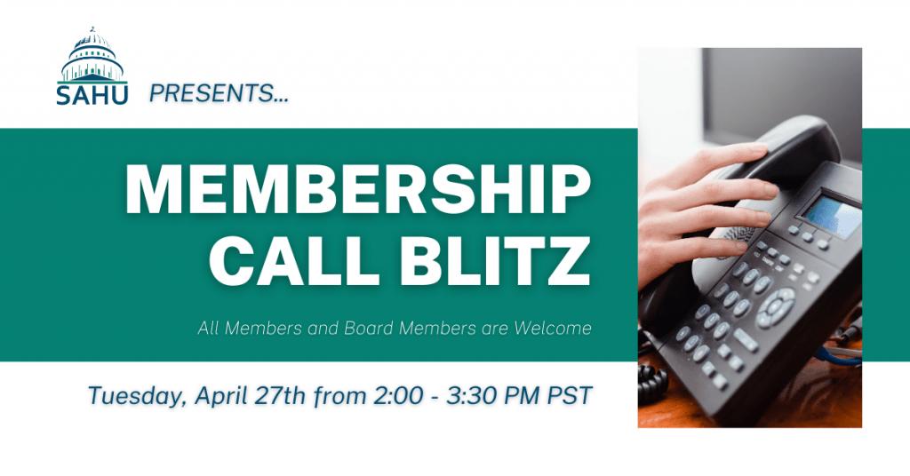 SAHU Membership Call Blitz