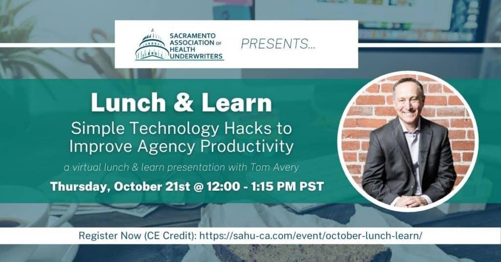 SAHU October Event Speaker Tom Avery Cover